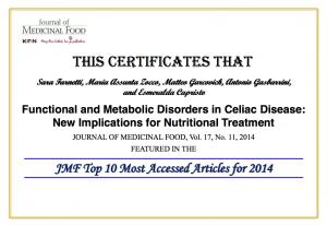 Certificato Celiac Disease