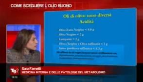 Sara Farnetti, olio d'oliva, Tg2 Insieme
