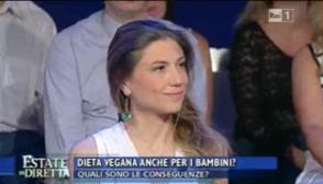 La Vita in Diretta 9.8.16 - dieta vegana